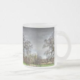 Folsom Oak Tree 10 Oz Frosted Glass Coffee Mug