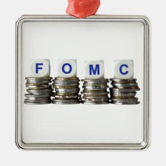 FOMC - Comité federal del mercado libre Adorno Navideño Cuadrado De Metal