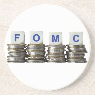 FOMC - Comité federal del mercado libre Posavasos Diseño