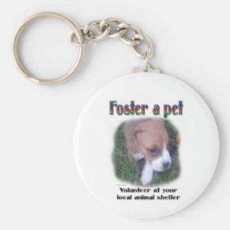 Fomente a un mascota llavero redondo tipo pin