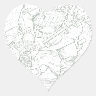 Fomorians Pegatina En Forma De Corazón