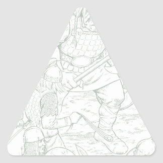 Fomorians Pegatina Triangular