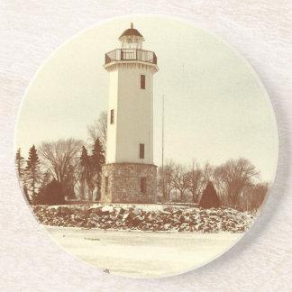 Fond du Lac Lighthouse Sandstone Coaster