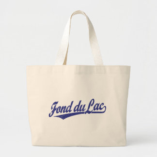 Fond du Lac script logo in blue Tote Bag
