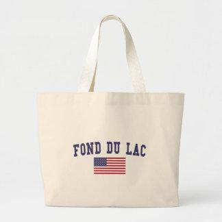 Fond du Lac US Flag Large Tote Bag