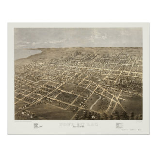 Fond Du Lac, WI Panoramic Map - 1867 Posters