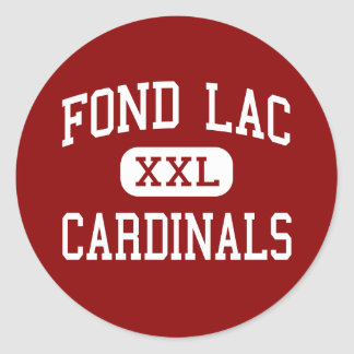 FOND LAC - Cardinals - High - Fond Du Lac Sticker