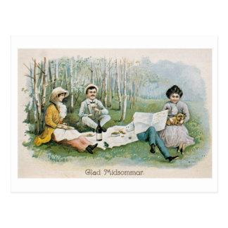 Fond midsummer! postcard