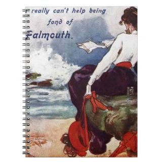 Fond of Falmouth vintage note pad Spiral Notebook