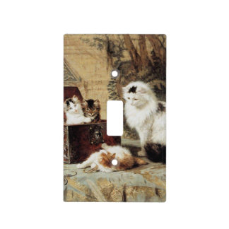 Fond of Jewelry by Henriette Ronner-Knip Light Switch Cover