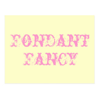 Fondant Fancy Postcard