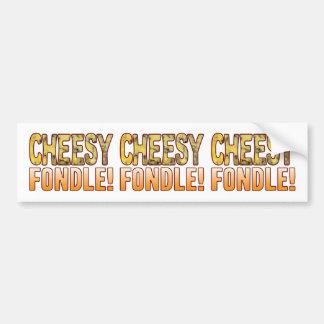 Fondle Blue Cheesy Bumper Sticker