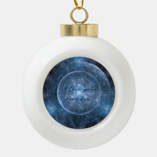 Fondo 001 del cosmos adorno de cerámica en forma de bola
