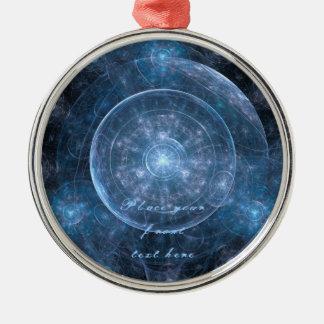 Fondo 001 del cosmos adorno navideño redondo de metal