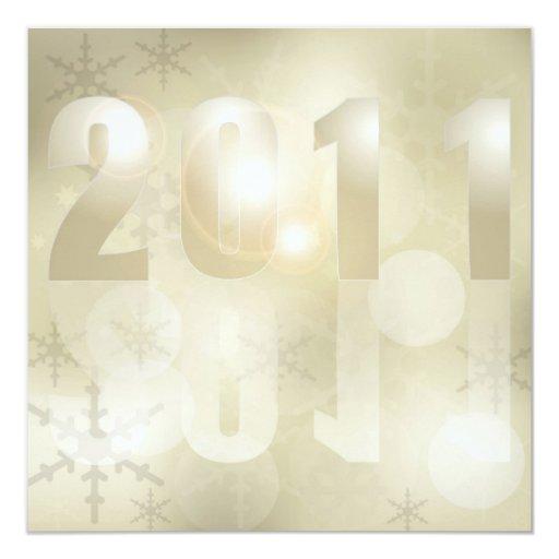 Fondo 2011 del Año Nuevo Invitacion Personalizada