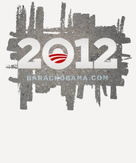 Fondo 2012 del asfalto del LOGOTIPO de OBAMA T-shirts