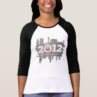 Fondo 2012 del asfalto del LOGOTIPO de OBAMA Camiseta