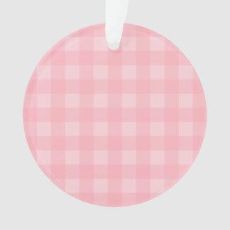 Fondo a cuadros del modelo de la guinga rosada
