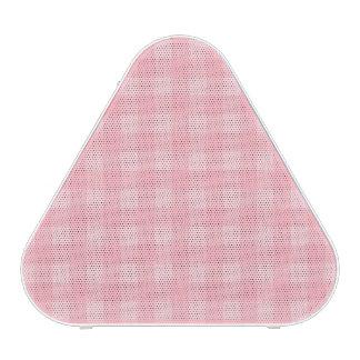Fondo a cuadros del modelo de la guinga rosada altavoz bluetooth