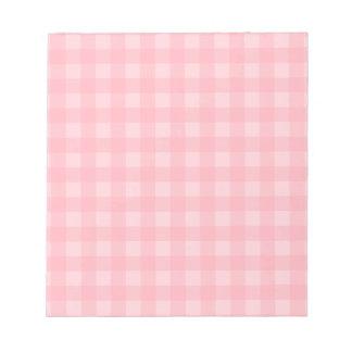 Fondo a cuadros del modelo de la guinga rosada bloc de notas