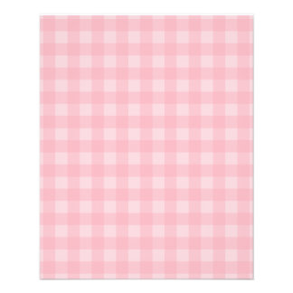 "Fondo a cuadros del modelo de la guinga rosada folleto 4.5"" x 5.6"""