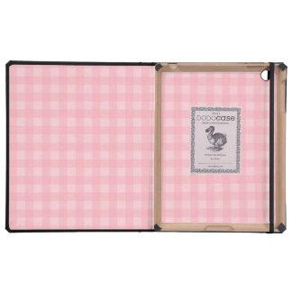 Fondo a cuadros del modelo de la guinga rosada iPad funda