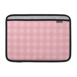 Fondo a cuadros del modelo de la guinga rosada funda para macbook air