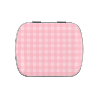 Fondo a cuadros del modelo de la guinga rosada jarrones de dulces