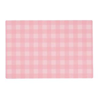 Fondo a cuadros del modelo de la guinga rosada tapete individual