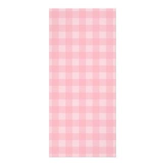 Fondo a cuadros del modelo de la guinga rosada tarjeta publicitaria