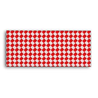 Fondo a cuadros rojo del mantel de la comida campe
