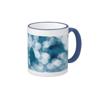 Fondo abstracto azul taza a dos colores