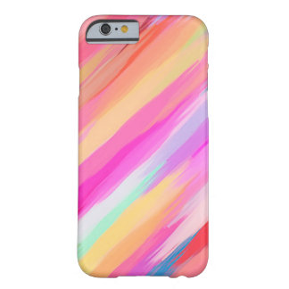 Fondo abstracto coloreado pastel #11 funda de iPhone 6 barely there