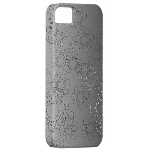 fondo abstracto con las flores en alivio iPhone 5 carcasas
