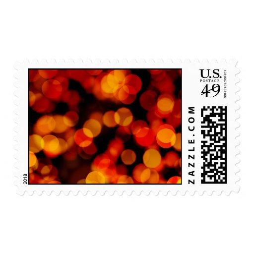 Fondo abstracto con las luces borrosas sello