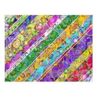 Fondo abstracto con las rayas coloreadas postales