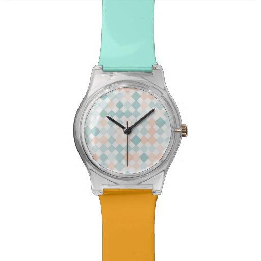 Fondo abstracto con los pequeños puntos mezclados relojes de pulsera