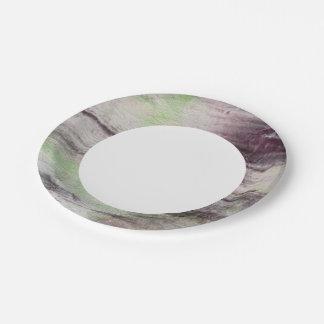 fondo abstracto de la acuarela del arte en el platos de papel