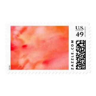 Fondo abstracto de la acuarela - naranja estampillas