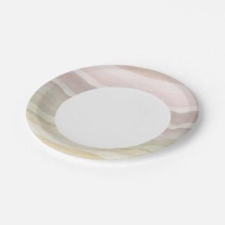 Fondo abstracto de la acuarela platos de papel