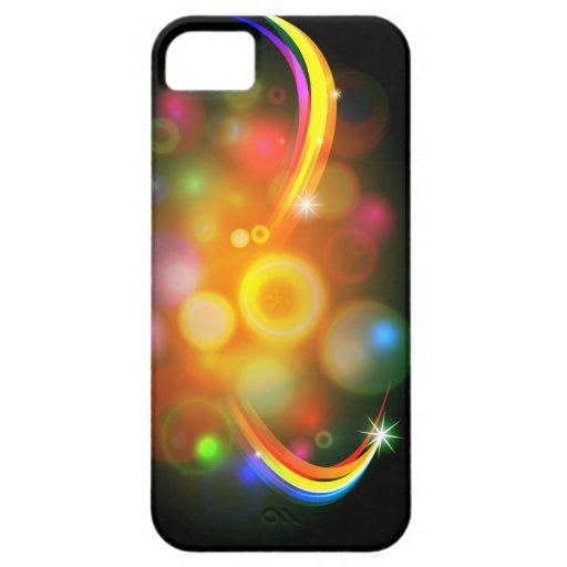 Fondo abstracto de la bola del árbol de navidad iPhone 5 protector