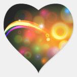 Fondo abstracto de la bola del árbol de navidad calcomania de corazon personalizadas