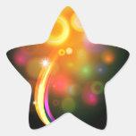Fondo abstracto de la bola del árbol de navidad calcomanía forma de estrella personalizadas