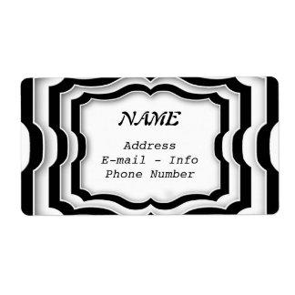 Fondo abstracto de la etiqueta etiqueta de envío