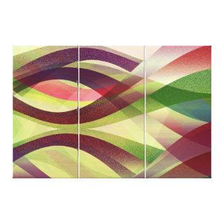 Fondo abstracto de la lona impresión en lona estirada