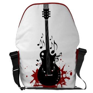 Fondo abstracto de la música de la guitarra bolsa messenger