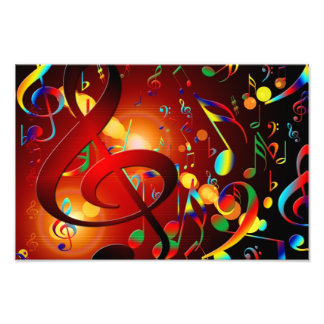 Fondo abstracto de la música impresiones fotograficas