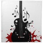 Fondo abstracto de la música servilletas imprimidas