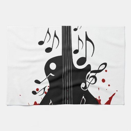 Fondo abstracto de la música toallas
