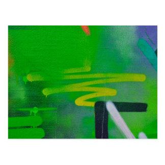 fondo abstracto de la pintura de las formas postal